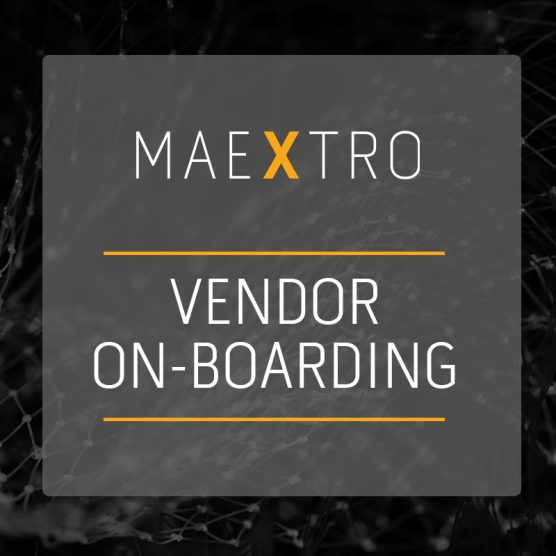 Vendor on-boarding made easy with Maextro!